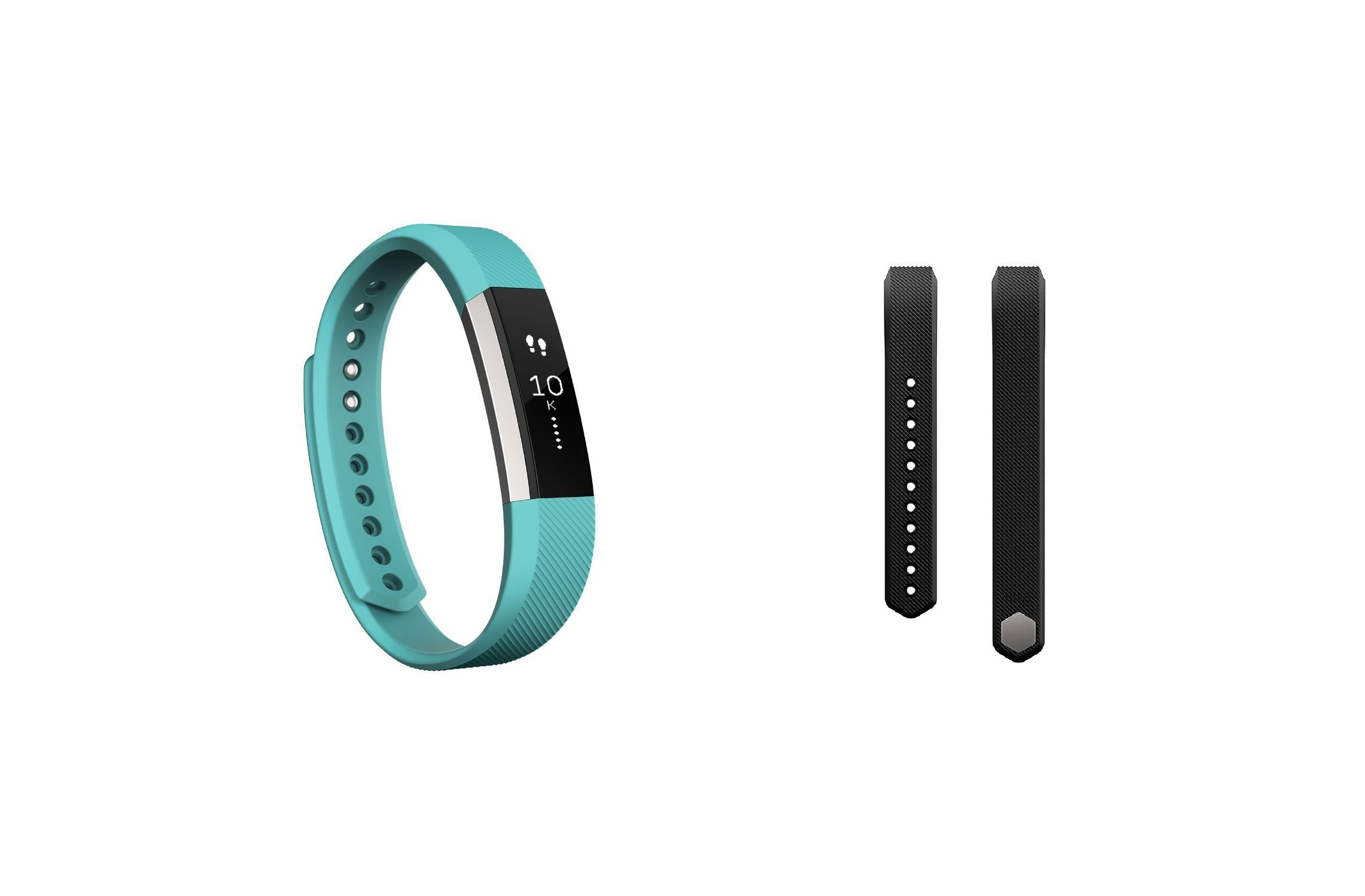 Fitbit Alta (Teal, Large) + Accessory Band (Black, Large) by Fitbit