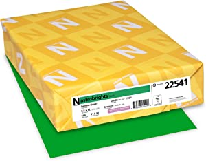 "Neenah - Wausau Astrobrights Color Paper, 8.5"" x 11"", 24 lb/89 GSM, Gamma Green, 500 Sheets (22541)"