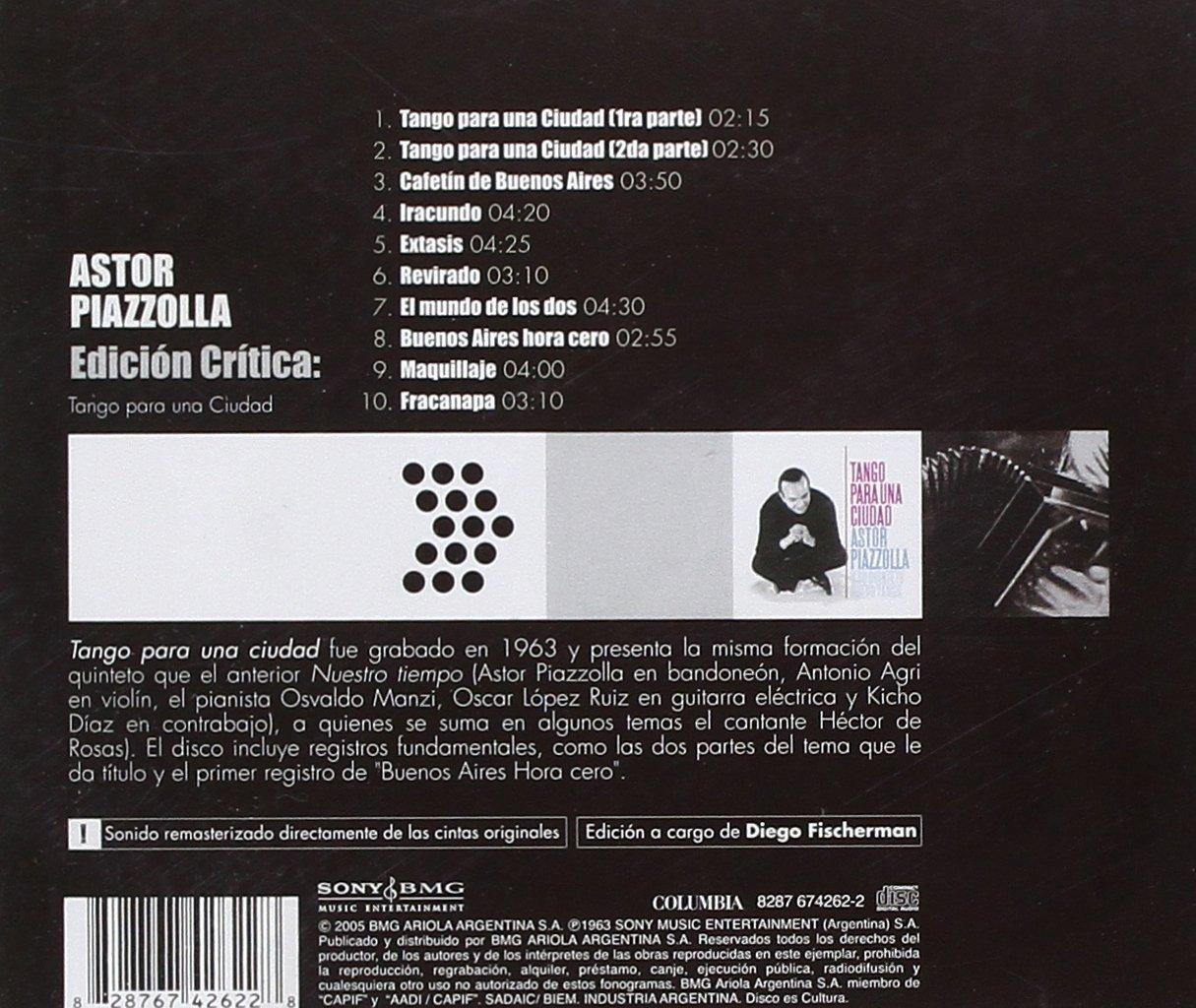 Astor Piazzolla - Edicion Critica: Tango Para Una Ciud Ad - Amazon.com Music