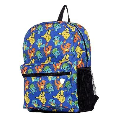 "Pokemon Large 17"" All Over Print Front Pocket Backpack: Toys & Games"