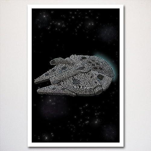 aaf9bba0148 Amazon.com  Star Wars Millennium Falcon Poster