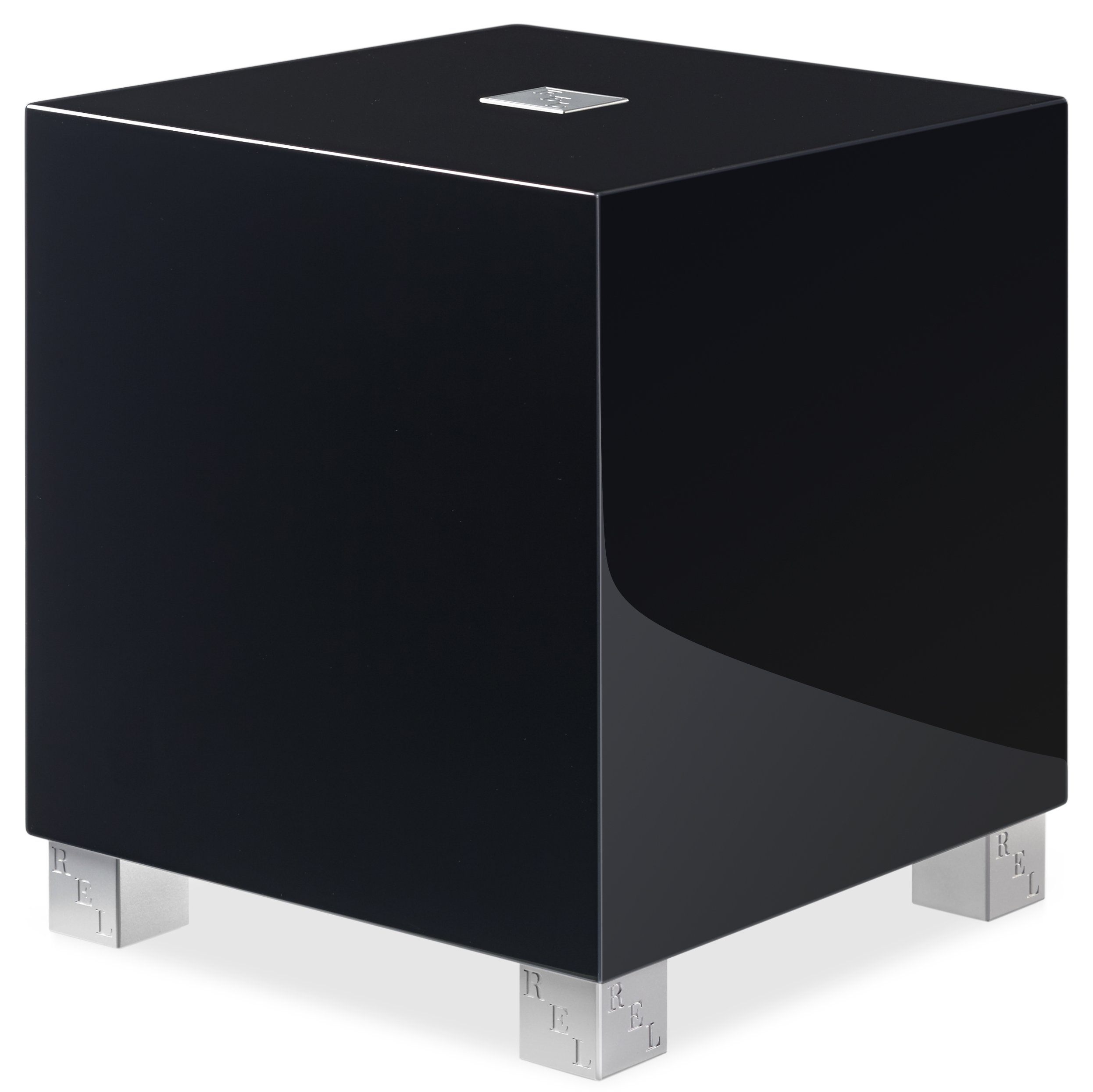 REL Acoustics T/5i Subwoofer, 8 inch Down-Firing Driver, Arrow wireless port, High Gloss Black