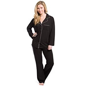 Fishers Finery Women's EcoFabric Full Length Pajama Set