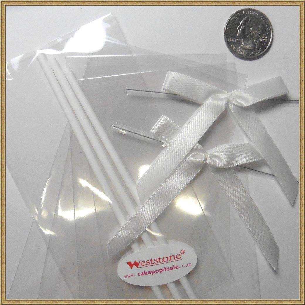 Amazon.com: 25pcs Cake pop sticks + clear bags + colorful ribbon ...