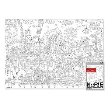 Amazon.com: nurie F gigante para colorear desplazamiento en ...