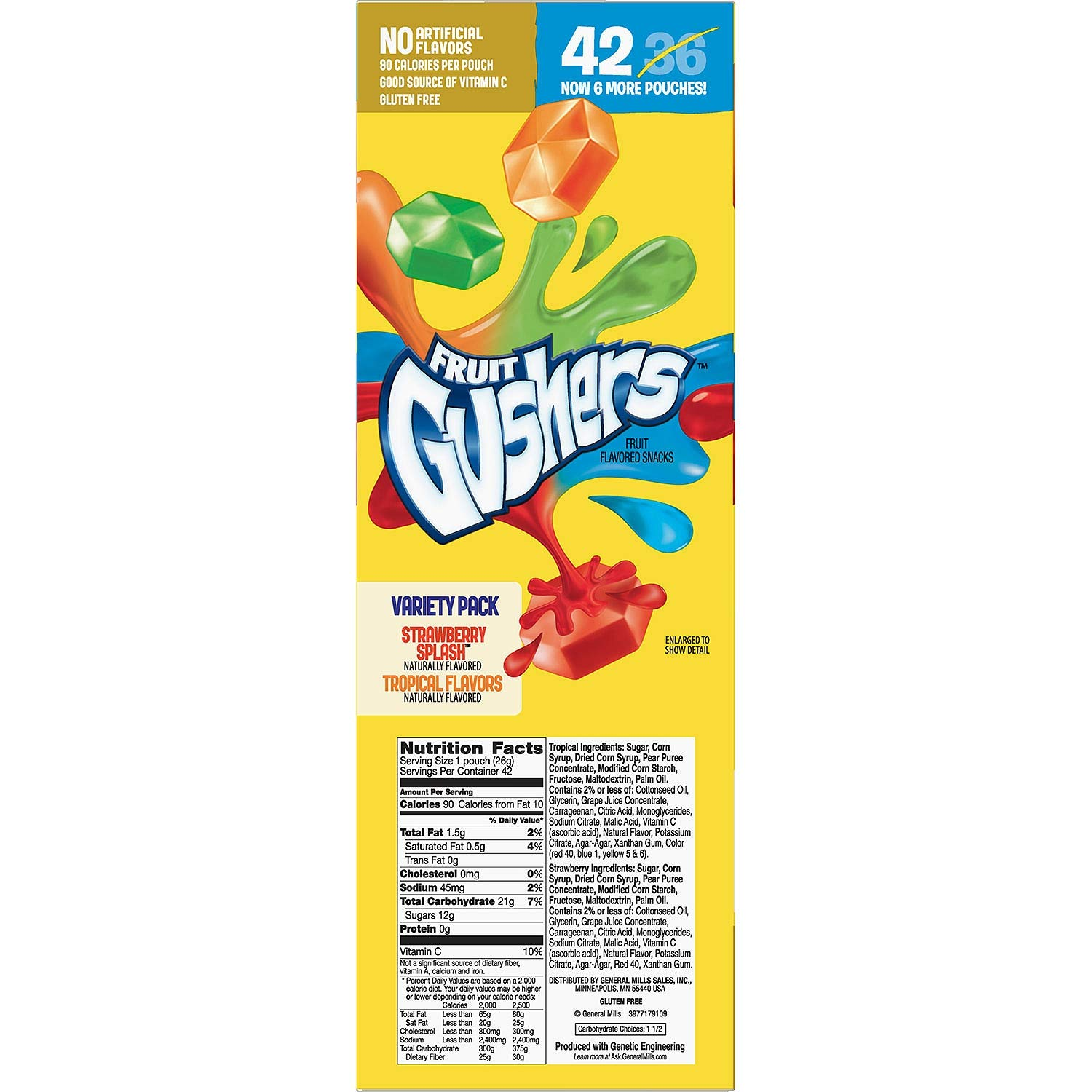 Fruit Gushers Variety Pack, Strawberry Splash and Tropical 42 ct. (pack of 4) A1 by Gushers (Image #3)