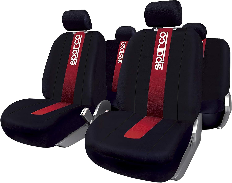 Sparco SPC101 Juego de fundas para asientos de coche,  11 Piezas, modelo CLASSIC
