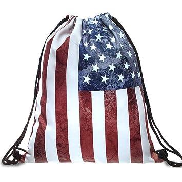 6aebe32e73 CHIC DIARY Drawstring Backpack Gym Sack Bag Travel Canvas String Bag for  Women Girls (