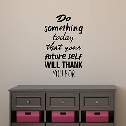 Amazon Com Motivational Quote Wall Art Decal Do Something Today