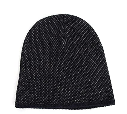 Gucci Unisex Dark Blue Wool Cashmere Cotton Small Beanie Hat with Logo  352350 4079 ba73a01af72