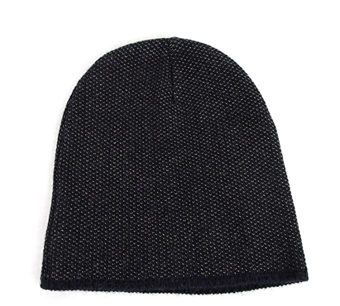 12c0484a Amazon.com: Gucci Unisex Dark Blue Wool Cashmere Cotton Beanie Hat with  Logo 352350 4079: Clothing