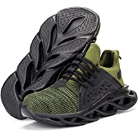 AIGU Steel Toe Safety Work Shoes-Men and Women Indestructible Slip Resistant Lightweight Breathable Construction…