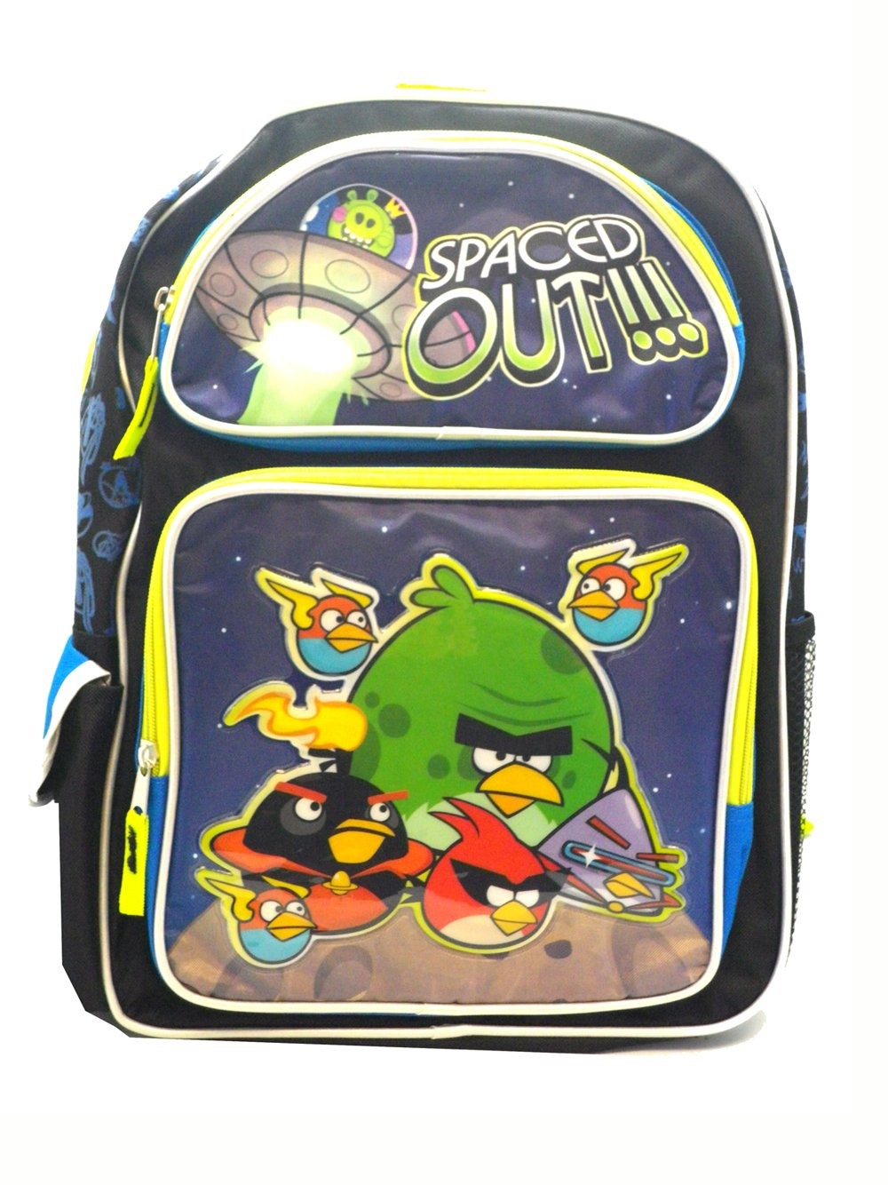 a5295b5a5064 Full Size Black and Blue Angry Birds Space Backpack - Angry Birds ...