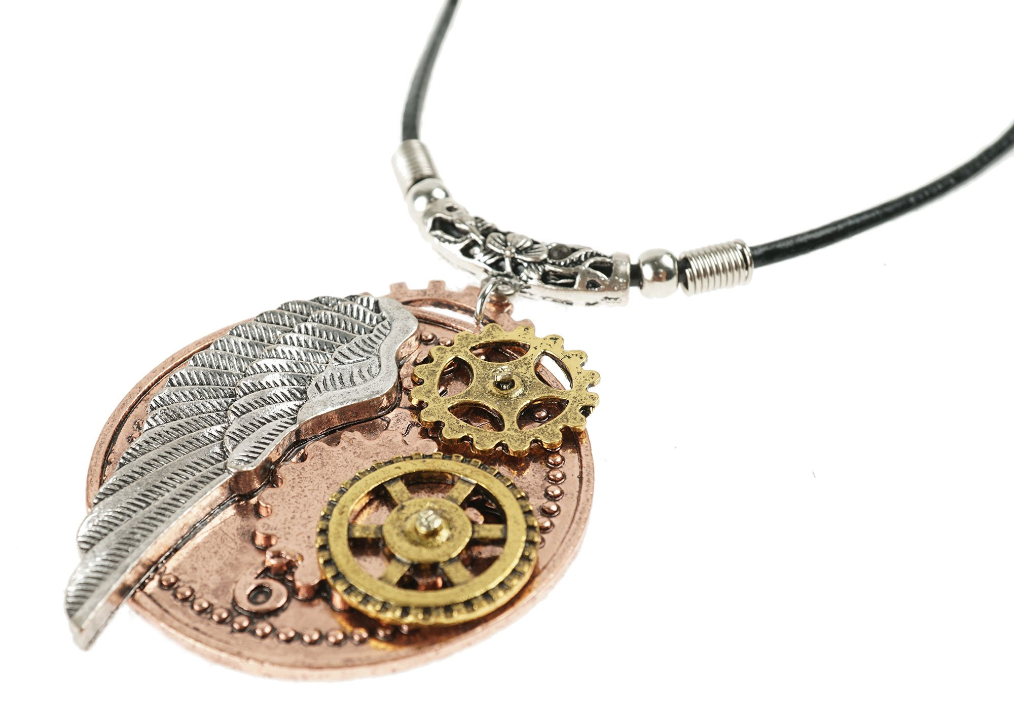 Heilong Fashion Retro Steampunk Gear Necklace Pendants Glamour Jewelry Accessories Gifts 6