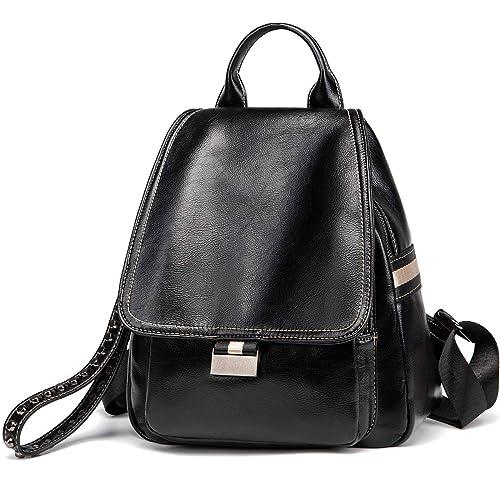 97582f48d British style Women Backpack Purse Casual Travel Bag Vintage Greased Leather  Rucksack School Shoulder Bag (