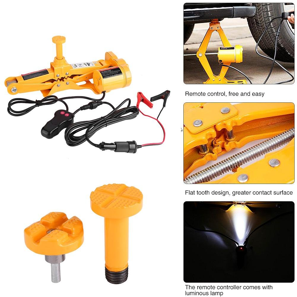 Automotive Jack Lifting,3Ton 12V DC Automotive Electric Jack Lifting Car SU-V Emergency Equipment w//Impact Wrench
