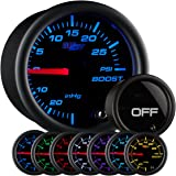 GlowShift Tinted 7 Color 30 PSI Boost/Vacuum Gauge