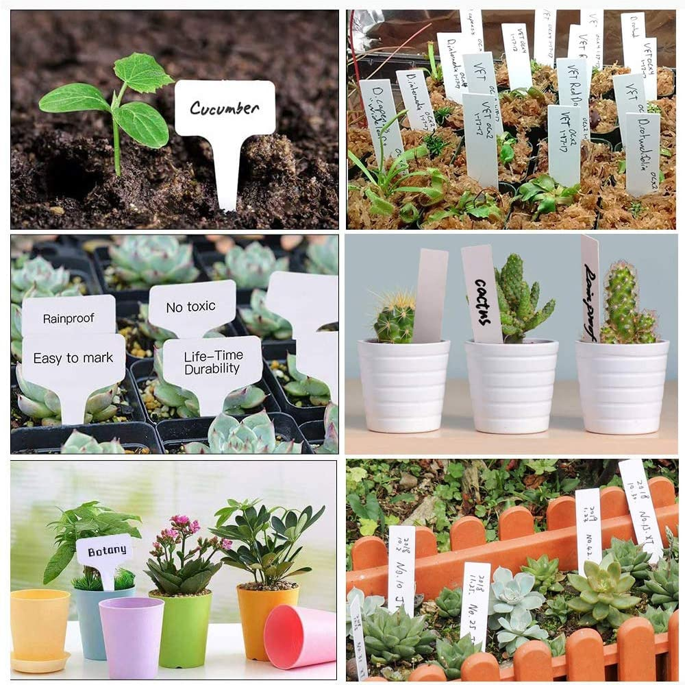 Vegetables Arrow Type Garden Marker Flowers Waterproof Nursery Garden Tags for Seed Trays and Pots Greenhouse Supplies 200Pcs Colorful Plastic T-Type Plant Labels