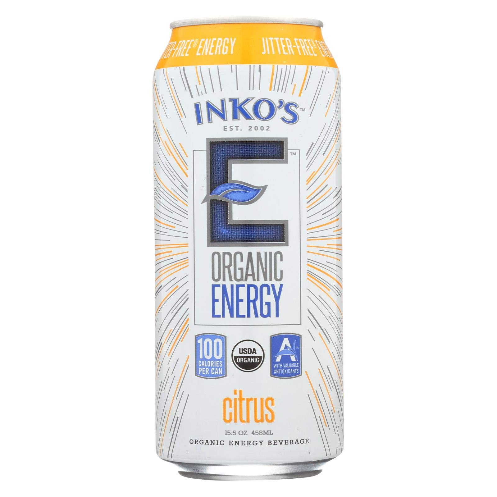 Inko's - Organic Energy Beverage Citrus - 15.5 oz.