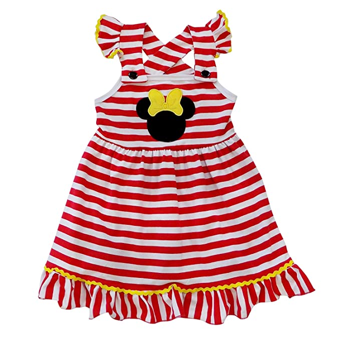 f61b8f9faca19 So Sydney Girls Toddler Pink or Red Minnie Mouse Kids Boutique Dress or  Outfit