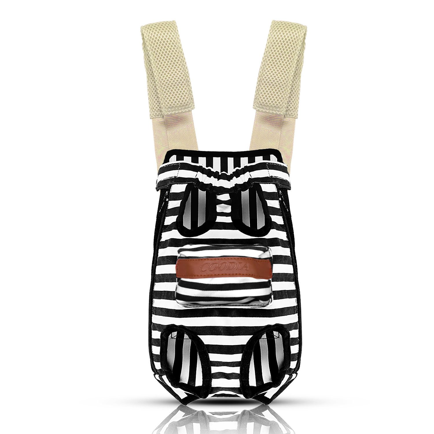COODIA Legs Out Front Pet Dog Carrier Front Chest Backpack Pet Cat Puppy Tote Holder Bag Sling Outdoor (S) by COODIA (Image #1)