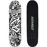 Gemgo Skateboard 9 couches Maple Doodle Motif concaves de patinage à roulettes