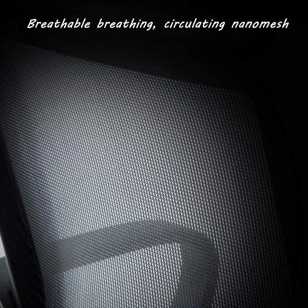 Ergonomisk kontorsstol, hög rygg verkställande svängbar dator skrivbord stol rygg ländrygg stöd nominell lastkapacitet: 150 kg (150 pund) nätryggstöd fast armstöd (färg: Grön) gRÖN