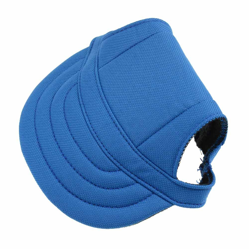 BUYITNOW Small Dog Baseball Hat Fashion Pet Sun Cap with Ear Holes, Adjustable for 4-11 lbs