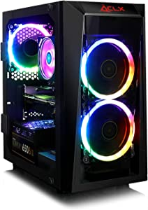 CLX Set Gaming PC AMD Ryzen 7 3800X 3.9GHz 8-Core, Wraith Prsim RGB CPU Cooler, B450 mATX, 16GB DDR4, Radeon RX 5700XT 8GB, 960GB SSD, WiFi, Black Mini-Tower Tempered Glass 3 RGB Fans