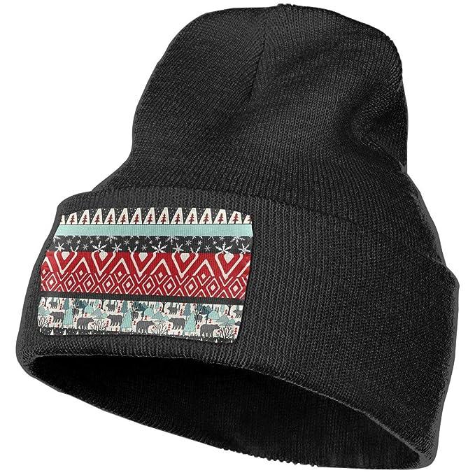 YOOJPC-6 Unisex Bears Christmas Beanie Skull Caps Knit Hat for Winter Warm  Hat 776f57e362e