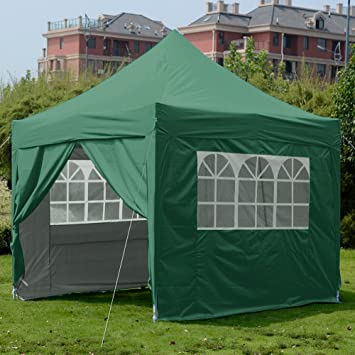 Quictent Silvox Waterproof 8x8u0027 EZ Pop Up Canopy Commercial Gazebo Party Tent Green Portable Pyramid & Amazon.com : Quictent Silvox Waterproof 8x8u0027 EZ Pop Up Canopy ...