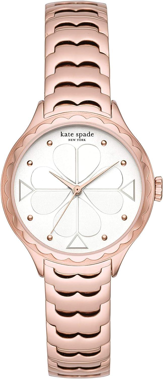 Kate Spade New York Women's Rosebank Quartz Watch with Stainless Steel Strap, Rose Gold, 14 (Model: KSW1504)