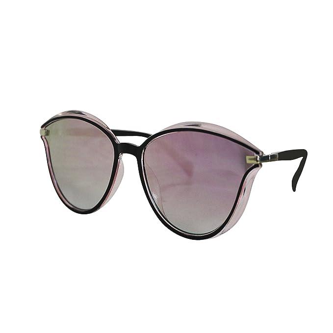 FERETI Gafas De Sol Mujer Rosa Dorado Pasta Vintage Moda ...