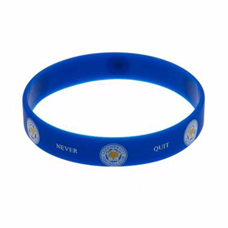 Leicester City FC Bracciale in gomma ufficiale con stemma