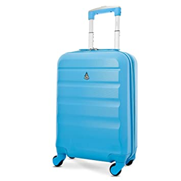 b5959f52c9 Aerolite Super Lightweight ABS Hard Shell Travel Carry On Cabin Hand  Luggage Suitcase with 4 Wheels