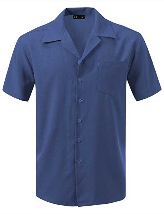 1950s Men's Shirt Styles – Dress Shirts to Casual Pullovers 7 Encounter Mens Camp Dress Shirt $29.99 AT vintagedancer.com