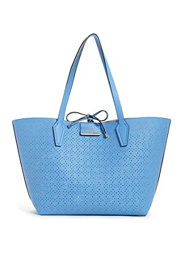 c4967a3a2195 Genuine GUESS Bobbi Inside Out Tote Ladies Shopper Reversible Bag with  Removable Pouch (Blueberry Nude)  Amazon.co.uk  Shoes   Bags