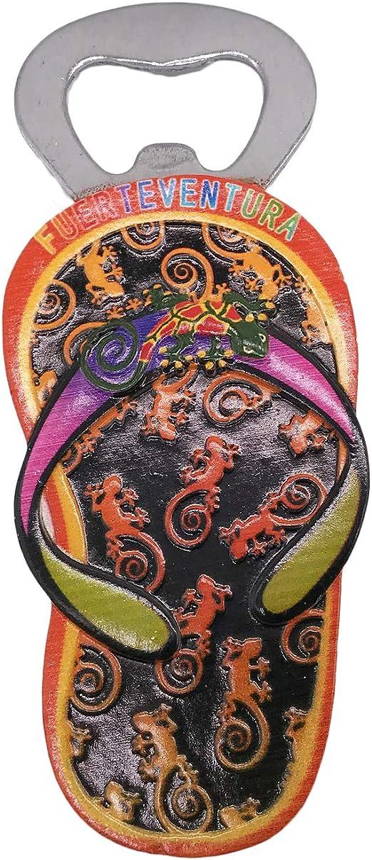 3D Fuerteventura España Abrebotellas Refrigerador Nevera Imán Recuerdos turísticos Hecho a Mano Resina Artesanía Pegatinas magnéticas Inicio Cocina Decoración Viaje Regalo: Amazon.es: Hogar