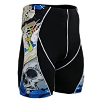 Fixgear Homme Femme Running Black Compression Baselayer Shorts S ~ 2XL