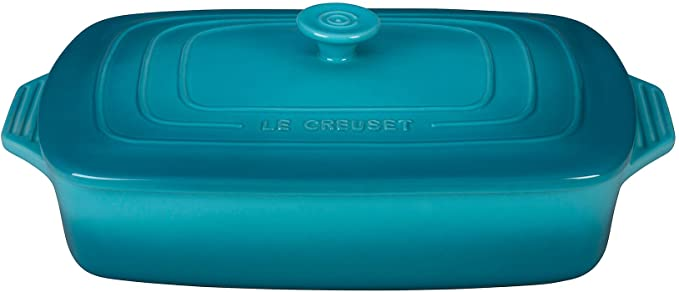 5.	Le Creuset PG1148S3A-3217 Stoneware Covered Rectangular Casserole