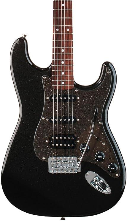 Fender Squier SQ AFN FAT STRAT MBK SPRKL HDW