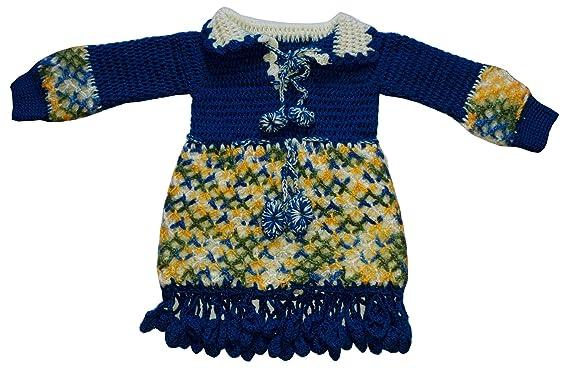 4b5bb4998141 Apna Showroom Baby Girl s Handmade Woolen Frock (Red  18 - 24 Months ...