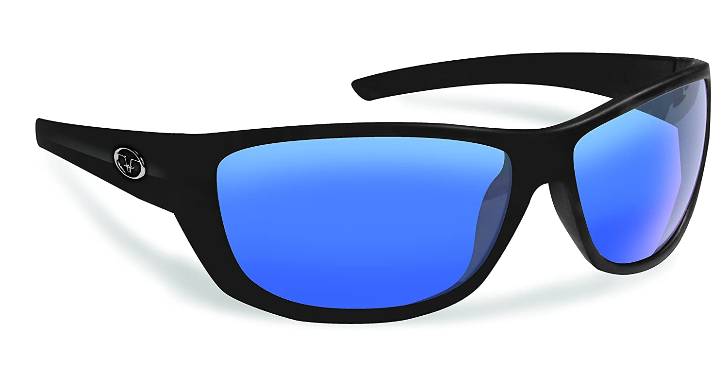 Flying Fisherman Bahia偏光サングラスフレーム  Matte Black Frames/Smoke-Blue Mirror Lenses B014176HTA