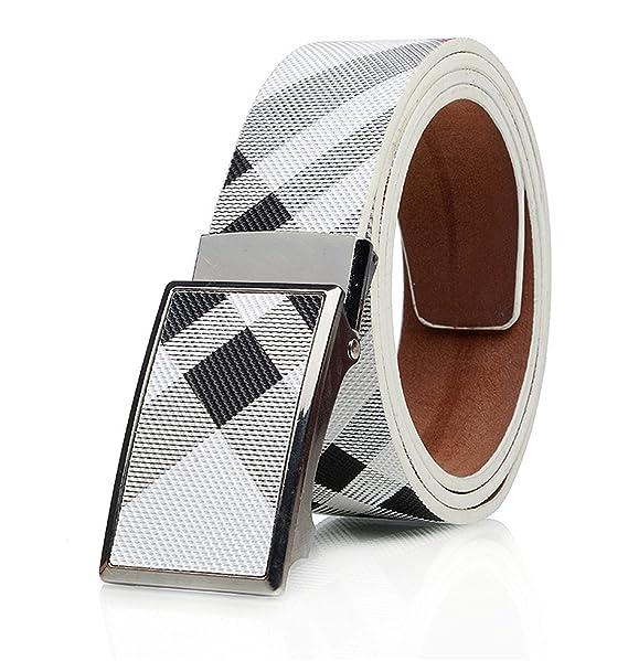 44854dc74 Fashion?NEW New Arrival Men streak Genuine Leather Belt Cowhide Luxury Automatic  Buckle