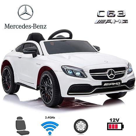 Coches eléctricos para niños Mercedes C63 con Mando Parental 2.4GHz, bateria 12v, Ruedas