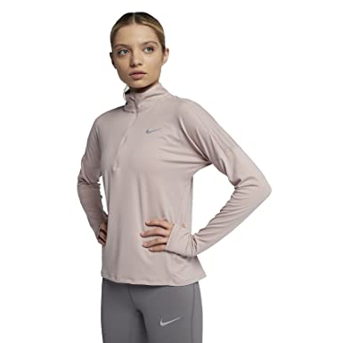 667227ab2a4 Amazon.com: NIKE Women`s Long Sleeve Running Dri-FIT Element Half ...