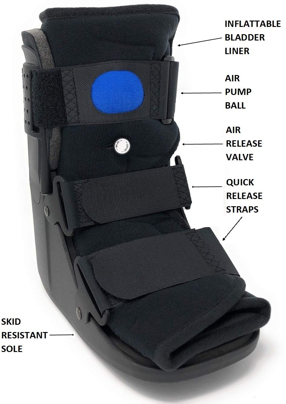 Amazon.com: Superior Braces Low Top, Low Profile Air Pump ...