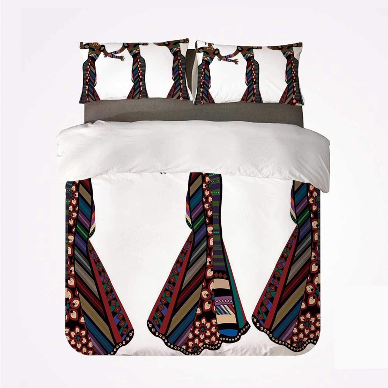 Juego de funda nórdica Mujer africana Juego de 3 camas agradables ...