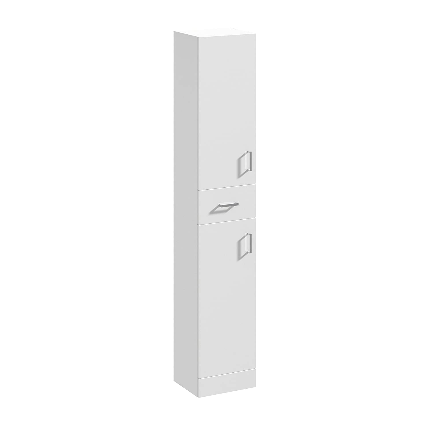 Home Standard Floe Classic White Gloss 350mm x 300mm Floor Standing Tall Unit