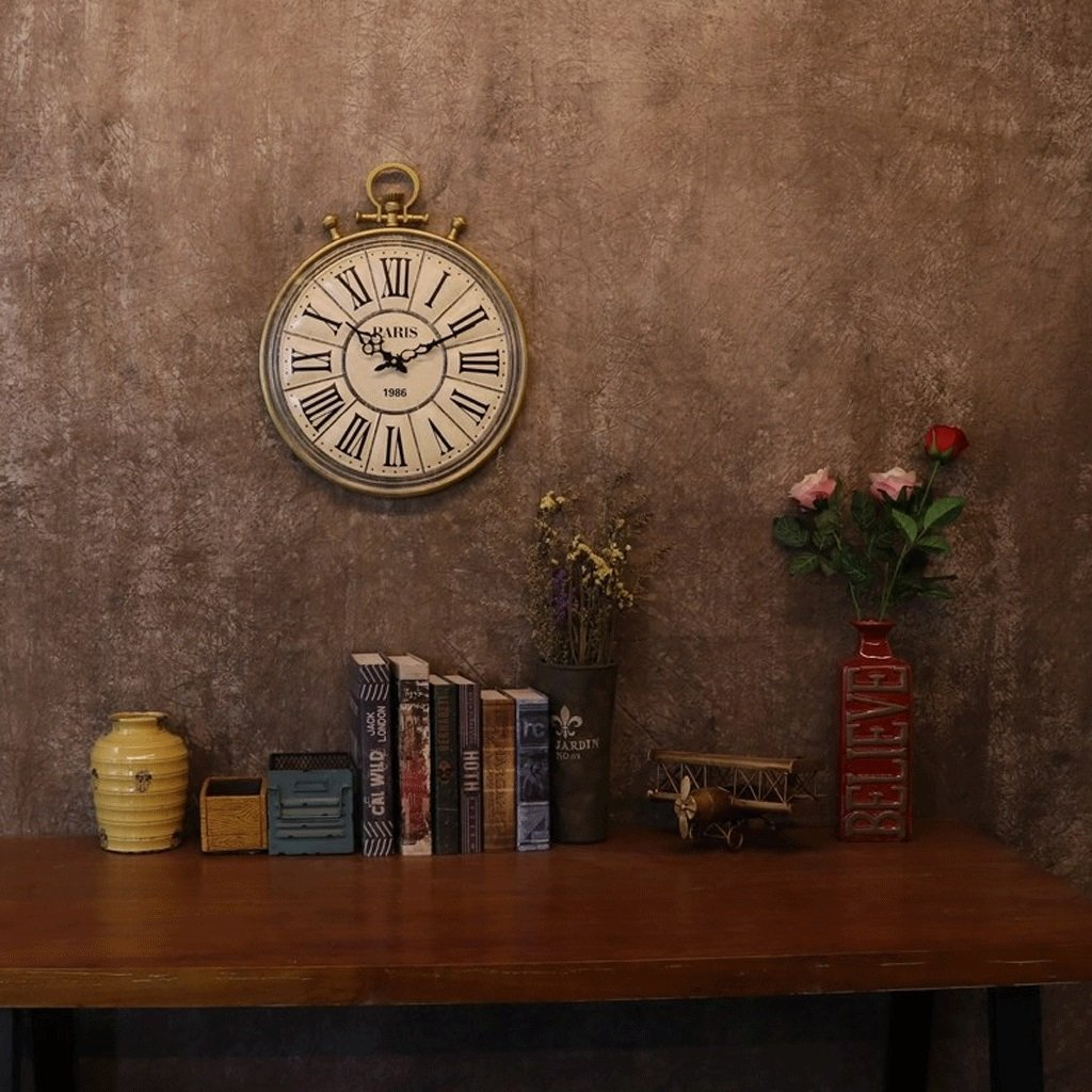 ウォールクロッククリエイティブパーソナリティ時計シンプルなファッションウォッチ寝室時計ウォッチウォールチャートミュートウォールクロック B07FB93DP5